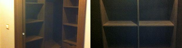 Vestidor en madera de wengué